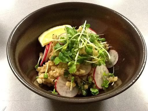 Aya's Kitchen: Barley Salad with Kaga Miso Lemon Vinaigrette (Vegan)