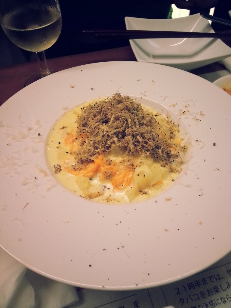 Tajarin with summer truffles