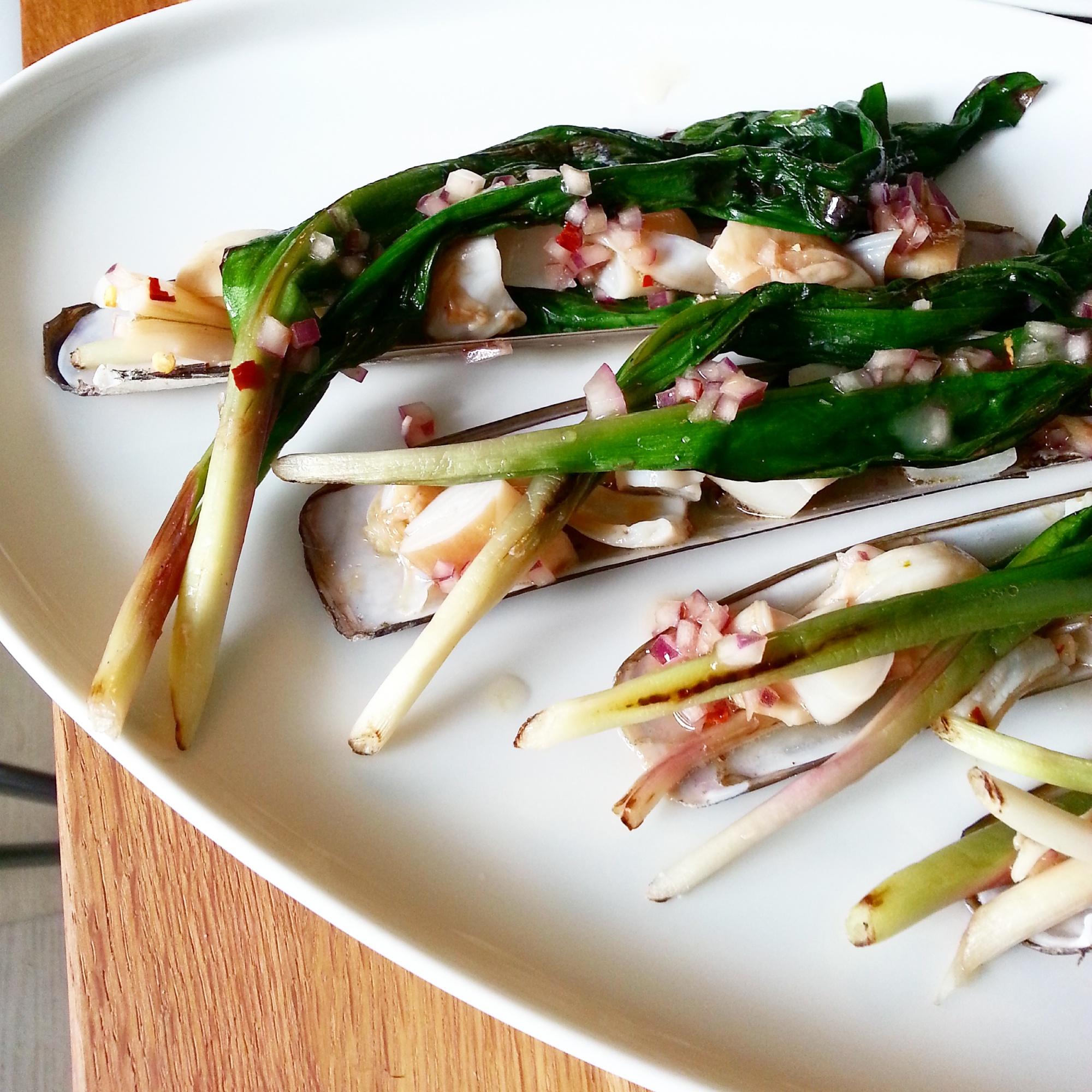 razor clam ceviche