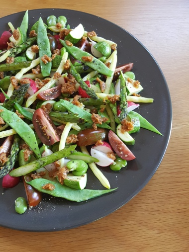 Summer Salad with Miso Dressing