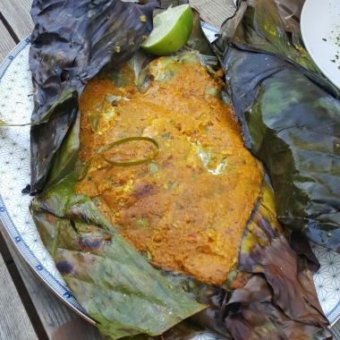 Banana Leaf Wrapped John Dory